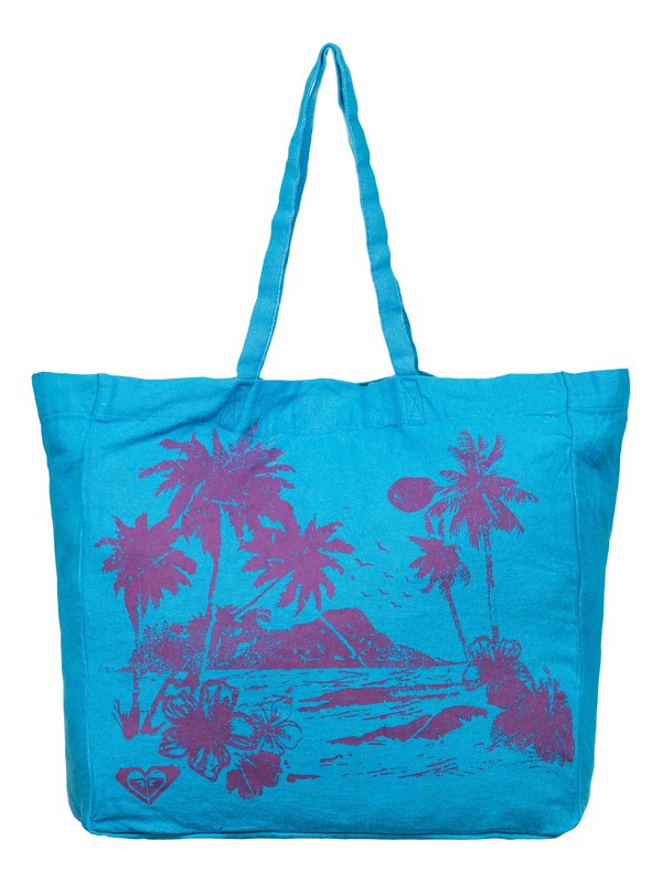0 Need It Now Printed Linen Beach Tote  ARJBP03145 Roxy