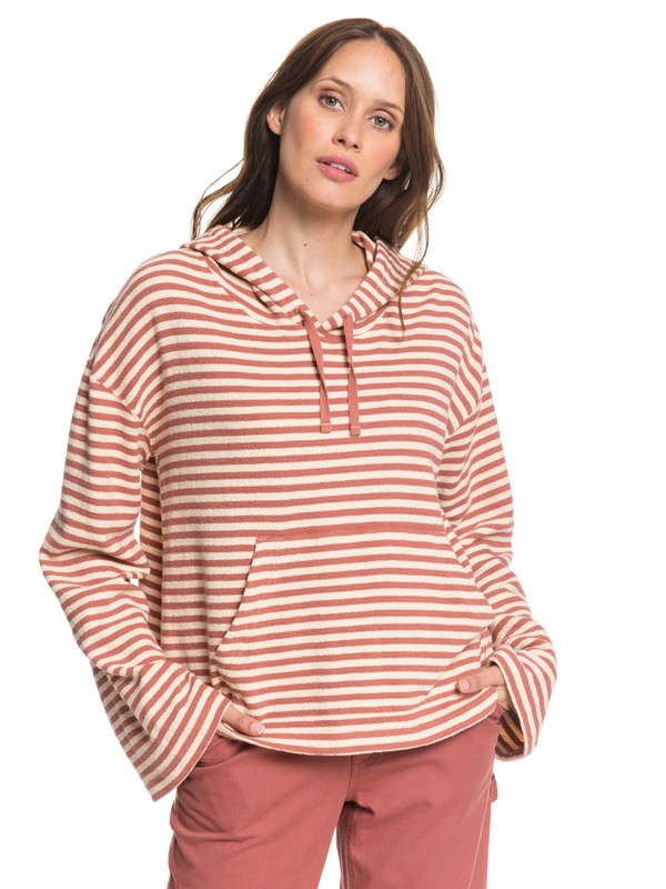0 Get Casual Oversized Cropped Hoodie Pink ARJFT03612 Roxy