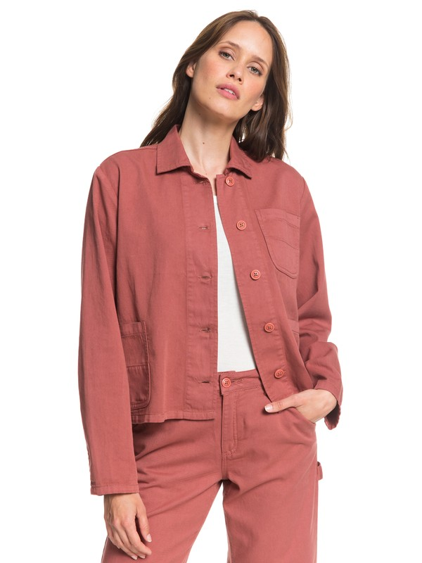 0 Wilmans Work Cropped Shirt Jacket Pink ARJJK03034 Roxy