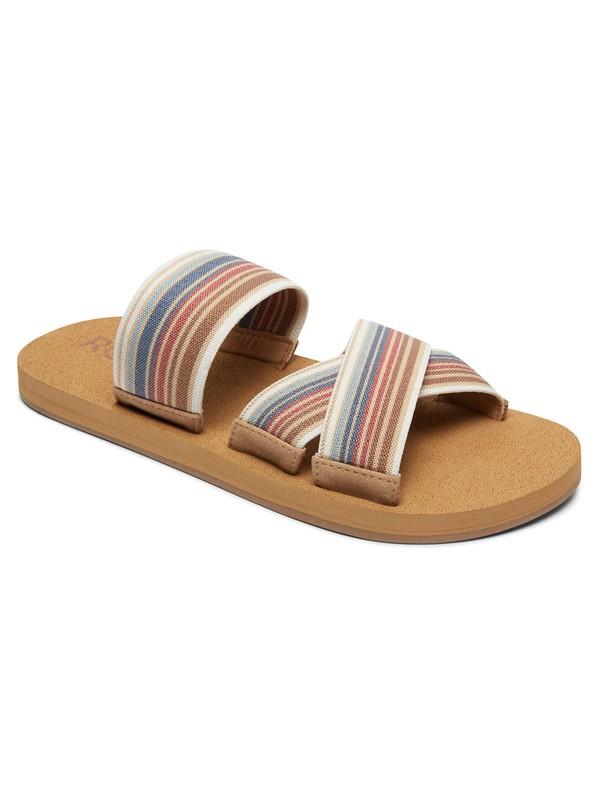 0 Shoreside Criss-Cross Sandals Grey ARJL100656 Roxy
