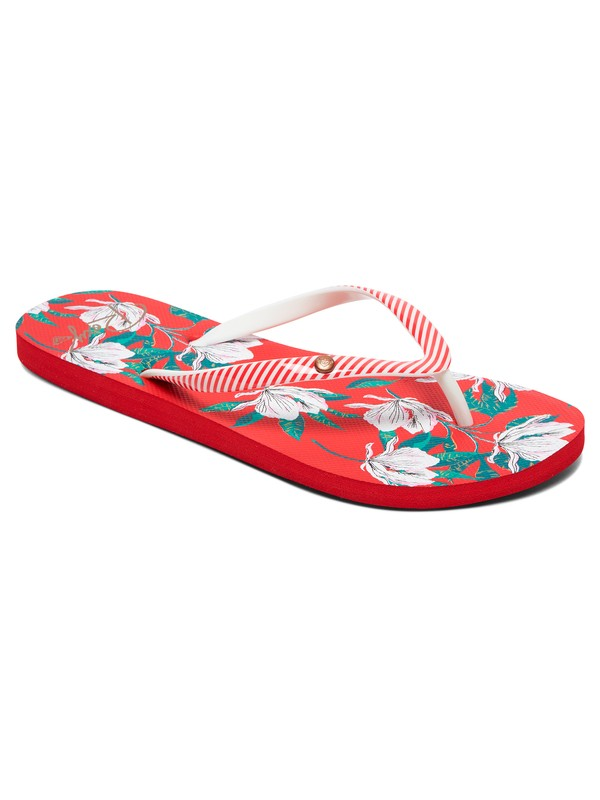 0 Portofino Flip-Flops Red ARJL100668 Roxy