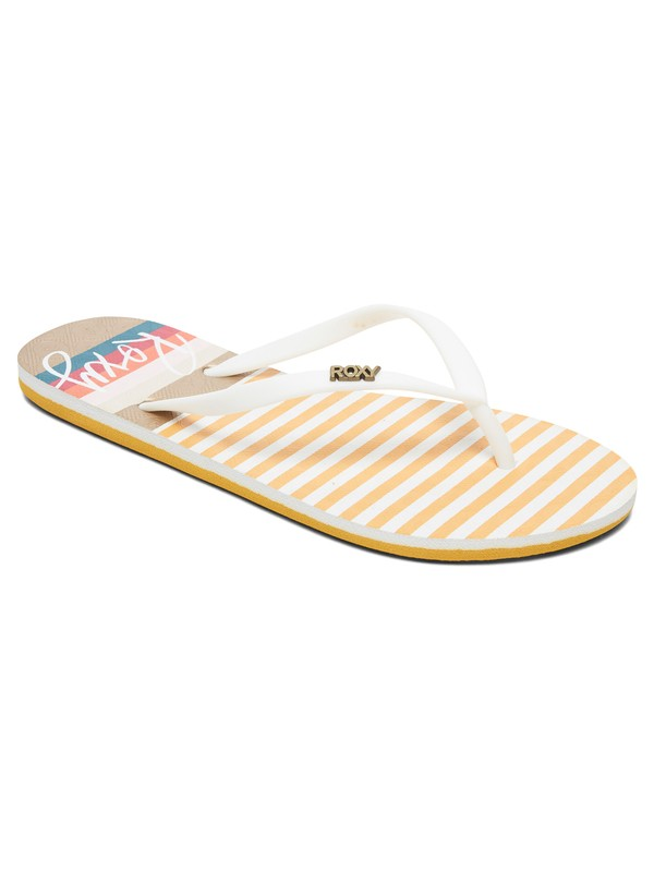 0 Viva Stamp Flip-Flops Yellow ARJL100683 Roxy
