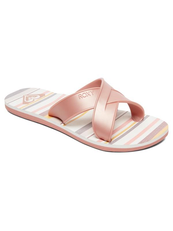 0 Carilo Criss-Cross Sandals Pink ARJL100767 Roxy