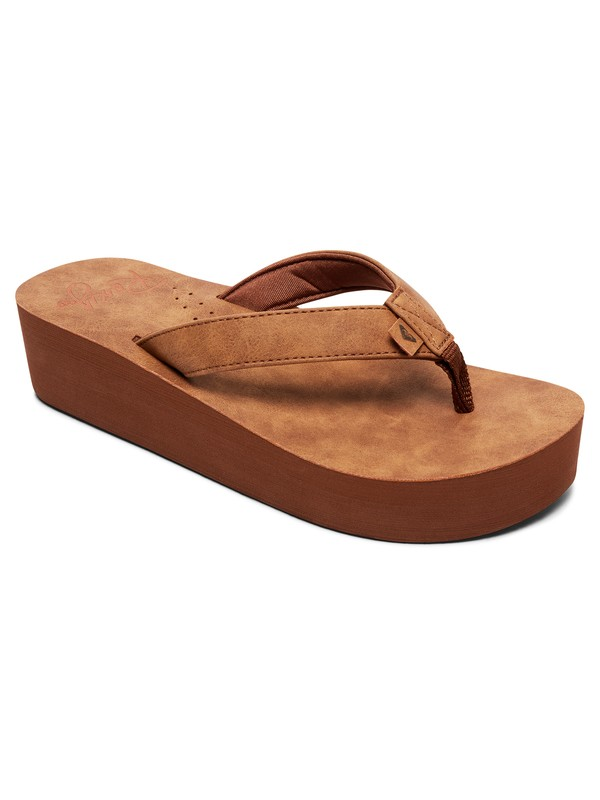 0 Melinda Platform Sandals Brown ARJL100774 Roxy