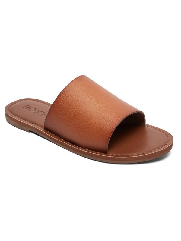 0 Kaia Slide Sandals Brown ARJL200654 Roxy