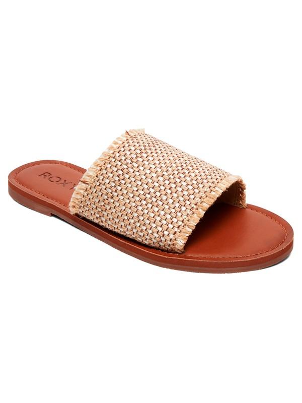 0 Kaia Slide Sandals Beige ARJL200654 Roxy