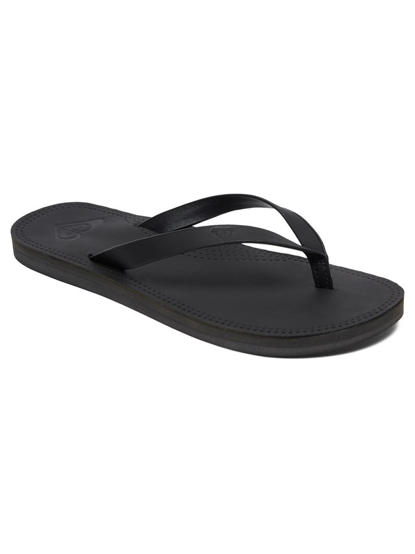 0 Brinn Leather Flip-Flops Black ARJL200689 Roxy