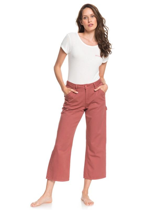 0 Wilmans Wor Cropped Workwear Pants Pink ARJNP03141 Roxy