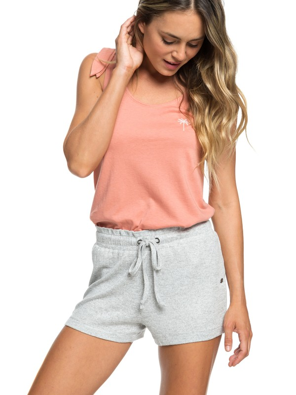 0 Little Smile - Sweat Shorts for Women Grey ARJNS03107 Roxy