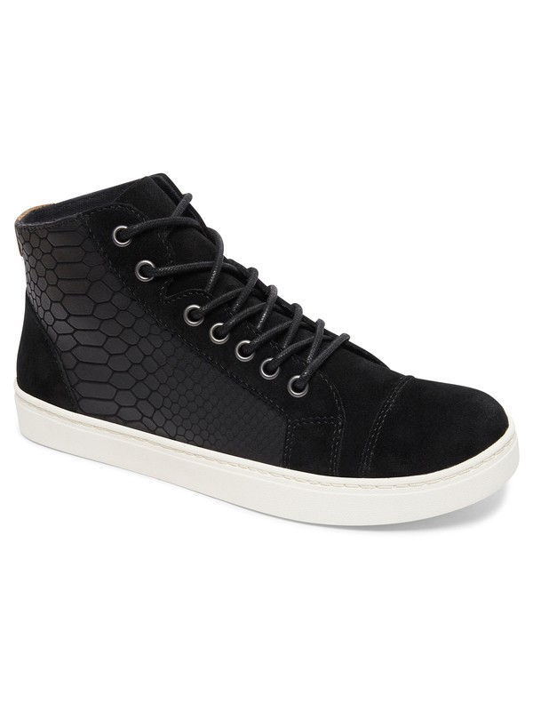 0 Melbourne - Lace-Up Leather Shoes for Women Black ARJS100018 Roxy