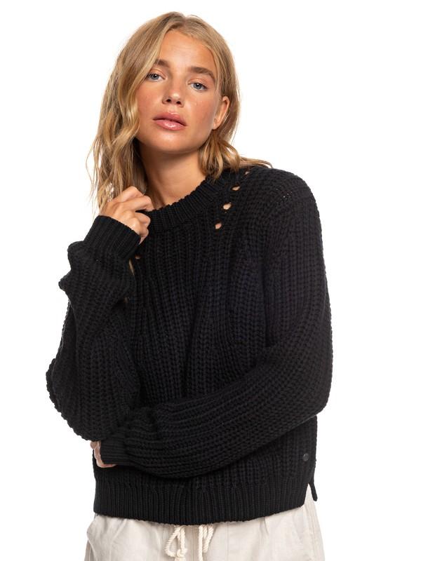 0 Bright Whites Sweater Black ARJSW03236 Roxy