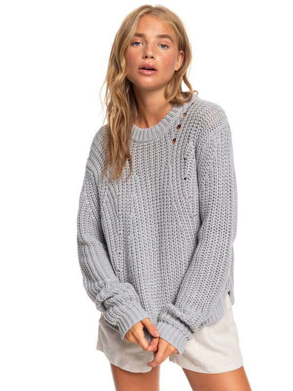 0 Bright Whites Sweater Grey ARJSW03236 Roxy