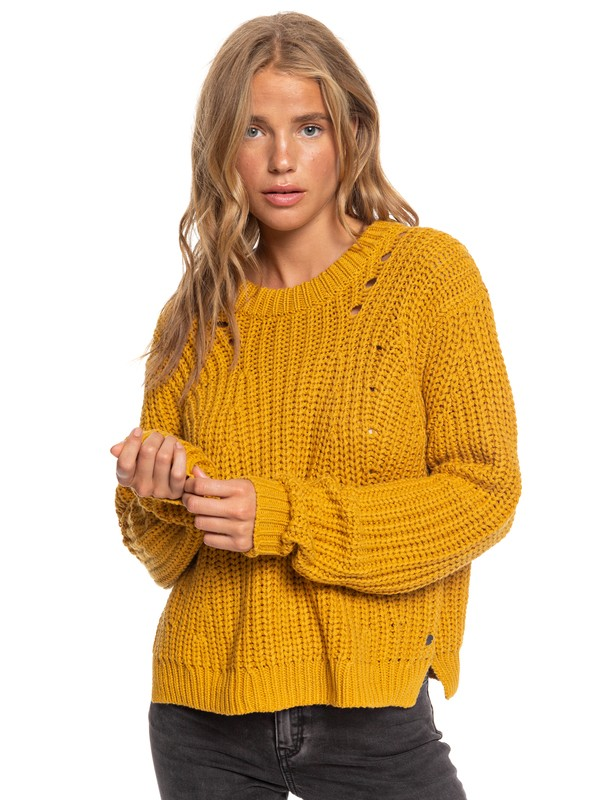 0 Bright Whites Sweater Yellow ARJSW03236 Roxy