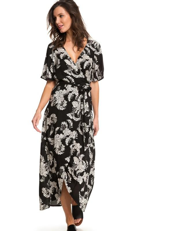 0 Keep The Seas Wrap Maxi Dress Black ARJWD03198 Roxy