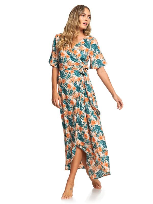 0 Keep The Seas Bell Sleeve Dress Beige ARJWD03241 Roxy