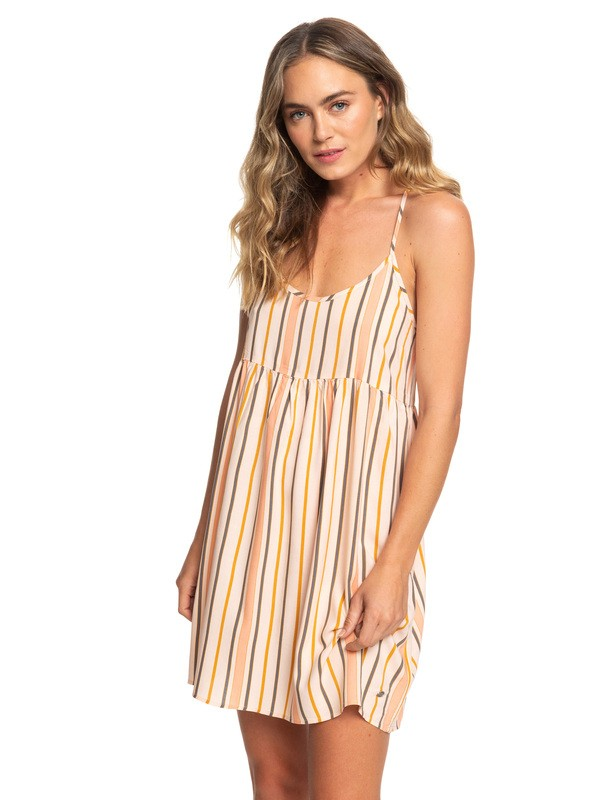 0 Tropical Sundance Strappy Dress Beige ARJWD03242 Roxy