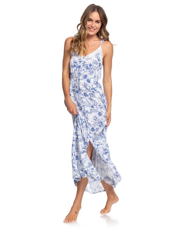 0 Hot Summer Lands Strappy Button Through Maxi Dress White ARJWD03255 Roxy