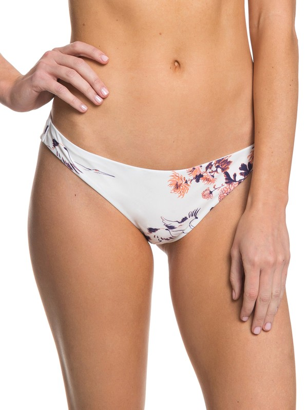 0 Strappy Love Reversible Mini Bikini Bottoms Beige ARJX403323 Roxy