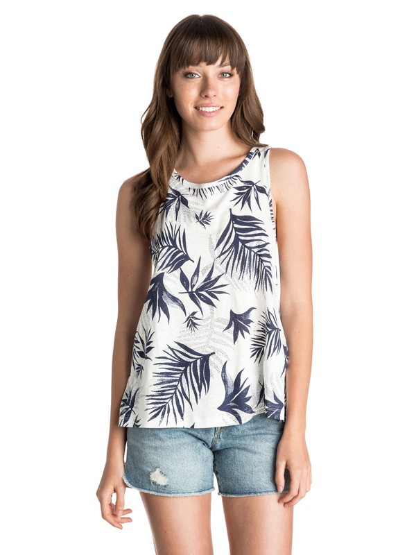 0 Midnight Palm High-Neck Top  ARJZT03392 Roxy