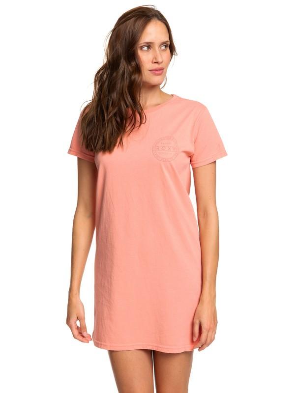 0 Tropic Society Midi T-Shirt Dress Pink ARJZT05412 Roxy