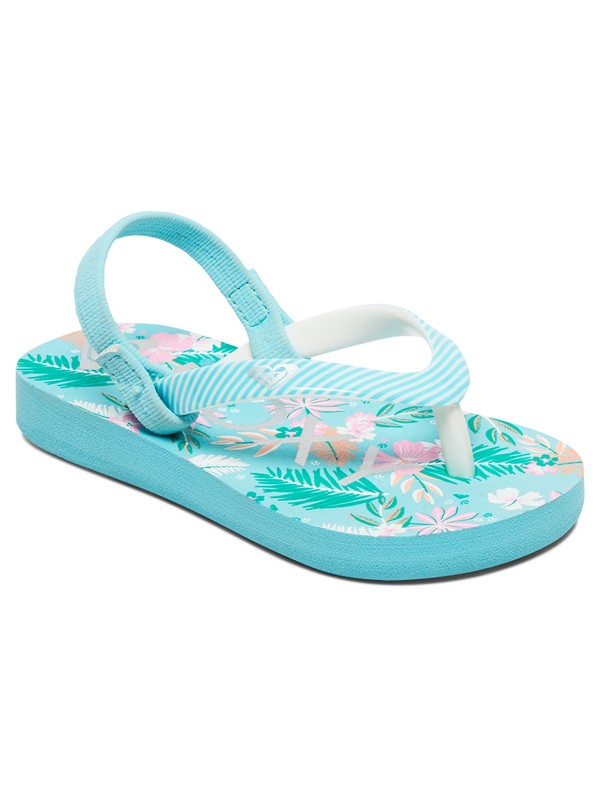 0 Girl's 2-6 Pebbles Sandals Blue AROL100004 Roxy