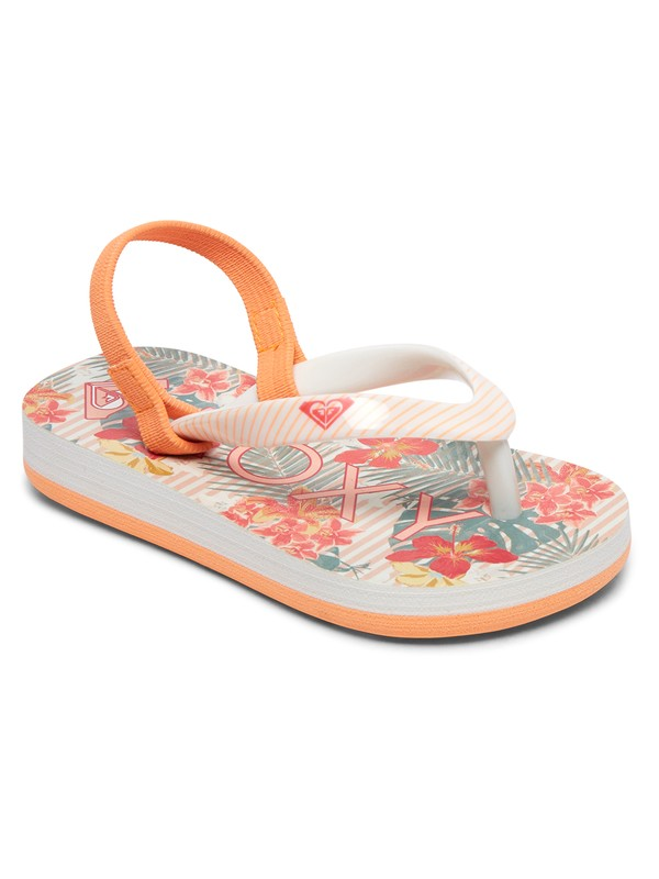 0 Girl's 2-6 Pebbles Sandals Orange AROL100004 Roxy