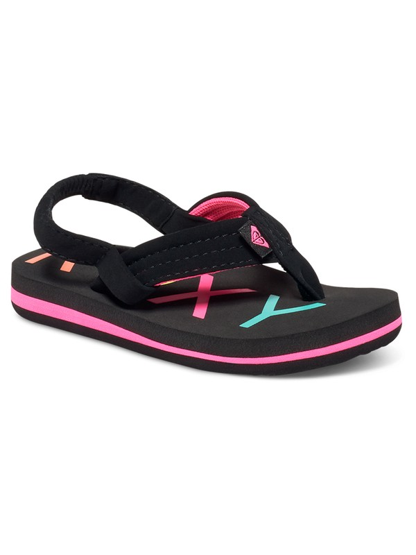 0 Girl's 2-6 Vista Sandals Black AROL100006 Roxy
