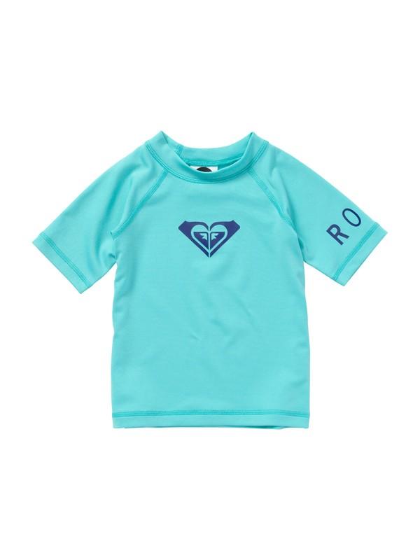 0 Girls 2-6 Whole Hearted Toddler SS Rashguard  AROWR00000 Roxy
