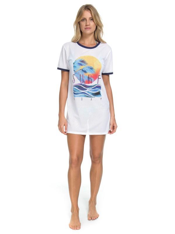 0 Saída de Praia Surf Roxy Branco BR66611082 Roxy