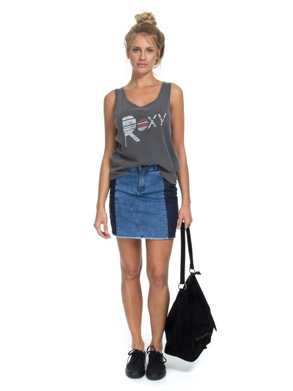 0 Mini Saia Jeans Old Days Roxy Azul BR73801243 Roxy