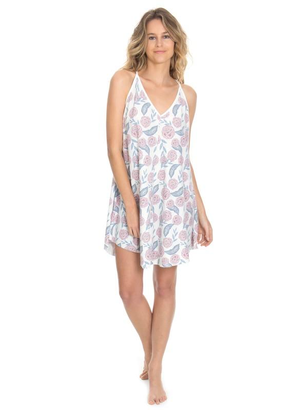 0 Vestido Feminino Estampado com Amarração nas Costas Roxy Branco BR73811531 Roxy