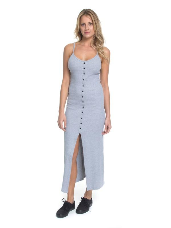 0 Vestido Longo Best Lines Roxy Cinza BR73811560 Roxy