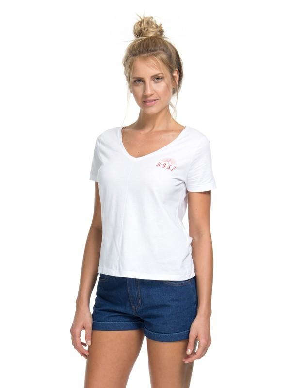 0 Camiseta Manga Curta Sunshine Roxy Branco BR73911253 Roxy
