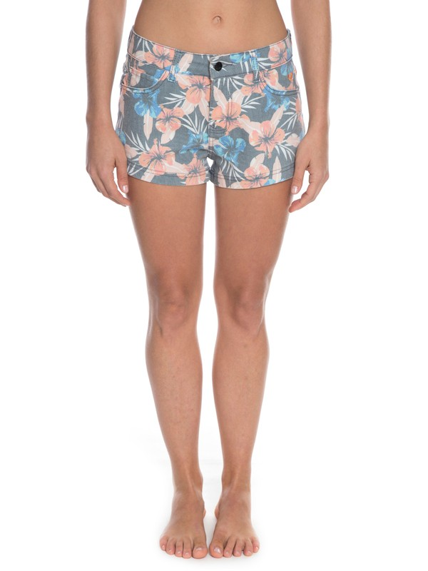 0 Shorts Kona Floral Preto BR74051197 Roxy