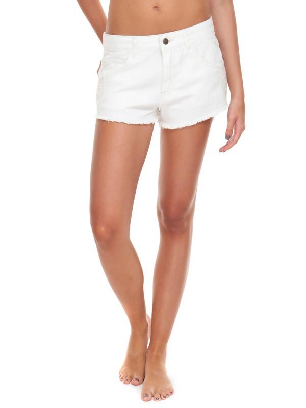 0 Shorts Feminino Curto Cintura Baixa Branco Roxy Branco BR74051204 Roxy
