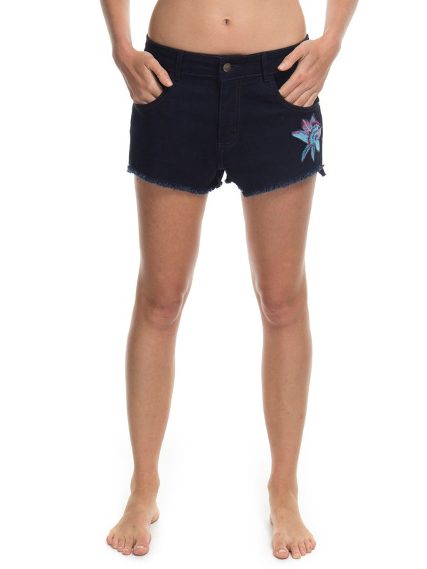 0 Shorts jeans Boy Fit Mahna Flower Roxy Azul BR74051209 Roxy
