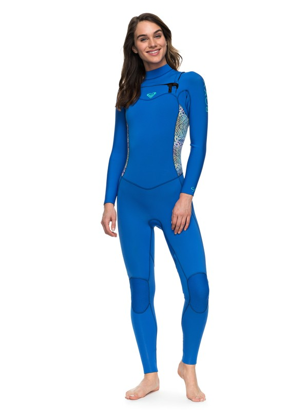 0 Wetsuit Long John 3/2mm Syncro Series Vedado c/ Ziper Frontal ROXY Azul BR79020132 Roxy