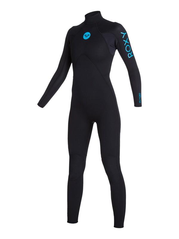 0 Wetsuit Long John 3/2mm Syncro Base Flatlock c/ Ziper nas Costas ROXY Preto BR79020133 Roxy