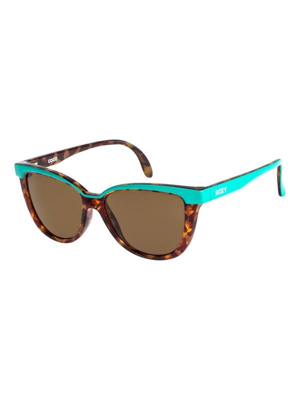 0 Coco - Sonnenbrille für Mädchen 3-7 Grün ERG6016 Roxy
