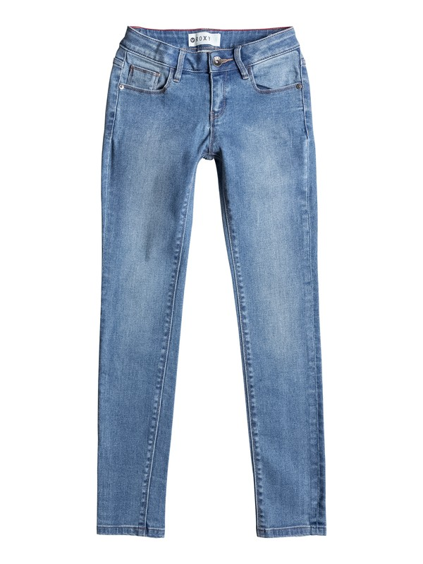 0 Step With Me - Slim Fit Jeans Blue ERGDP03019 Roxy