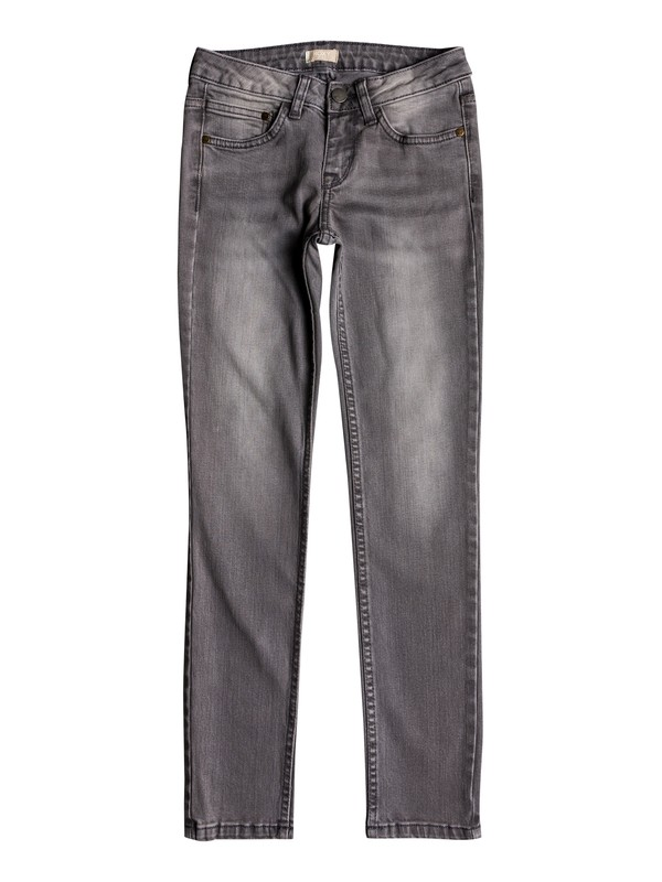 0 Girl's 7-14 American Ride Slim Fit Jeans Grey ERGDP03043 Roxy