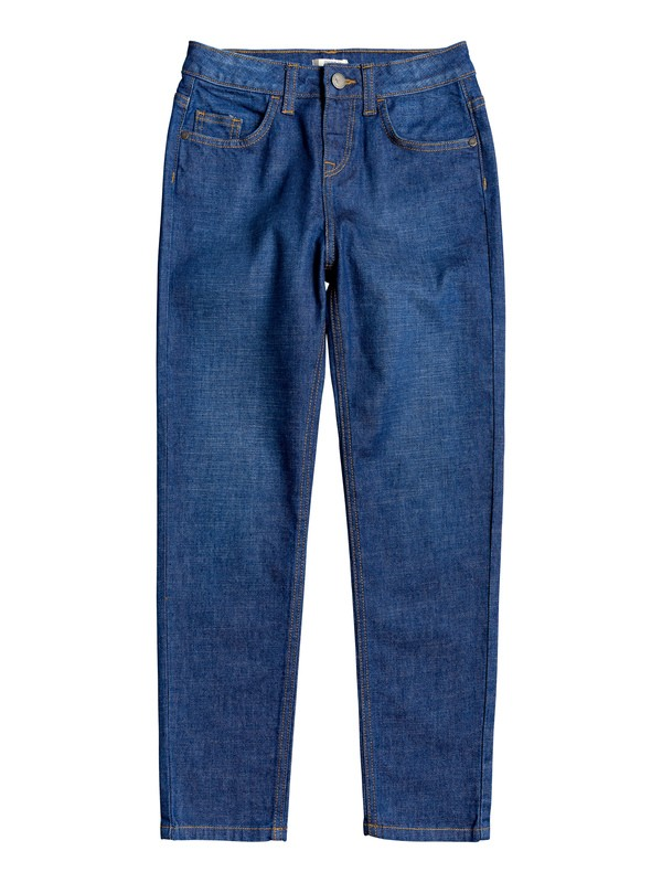 0 Ready Yet - Jean Mom fit pour Fille 4-16 Bleu ERGDP03054 Roxy