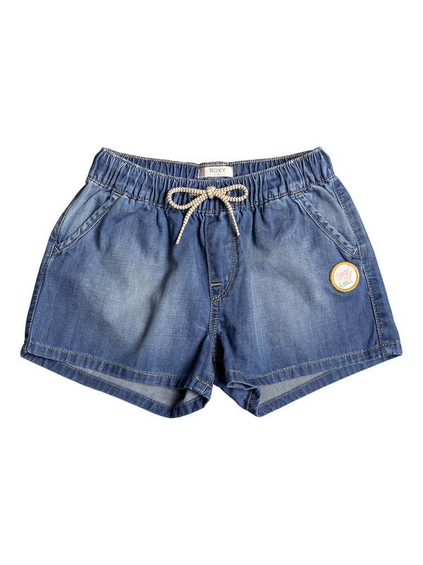 0 Girl's 7-14 Honey Sunday Denim Beach Shorts Blue ERGDS03048 Roxy