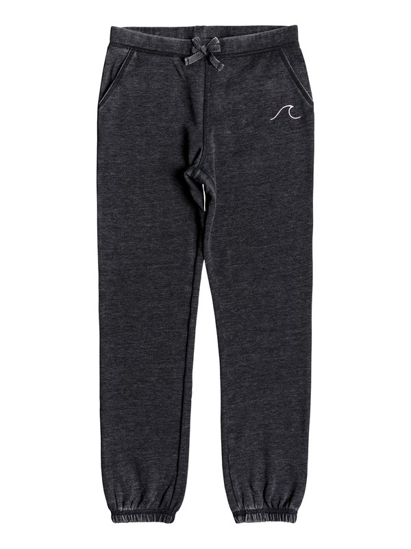 0 Girl's 7-14 Boom Boom Pow Small Waves Joggers Black ERGFB03099 Roxy