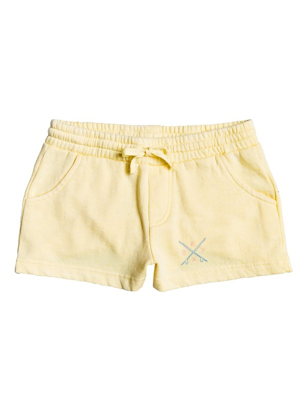 0 Girl's 7-14 Summer Is Here A Sweat Shorts Yellow ERGFB03120 Roxy