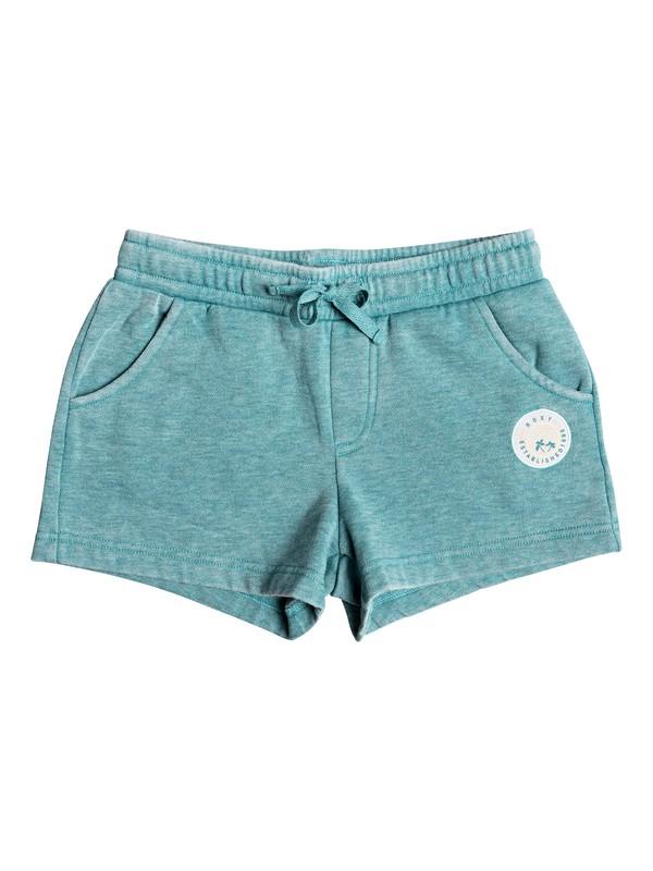 0 Girl's 7-14 Summer Is Here B Sweat Shorts Blue ERGFB03121 Roxy