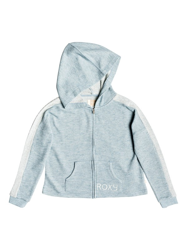 0 Girl's 7-14 Listen Closely A Zip-Up Hoodie Blue ERGFT03278 Roxy