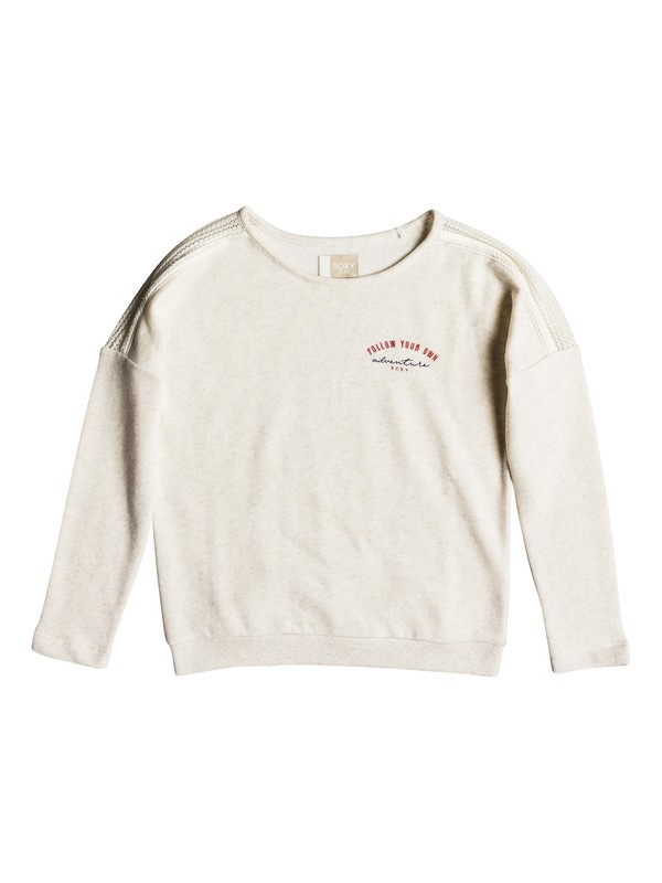 0 Girl's 7-14 Glitter And Gold Sweatshirt Beige ERGFT03292 Roxy