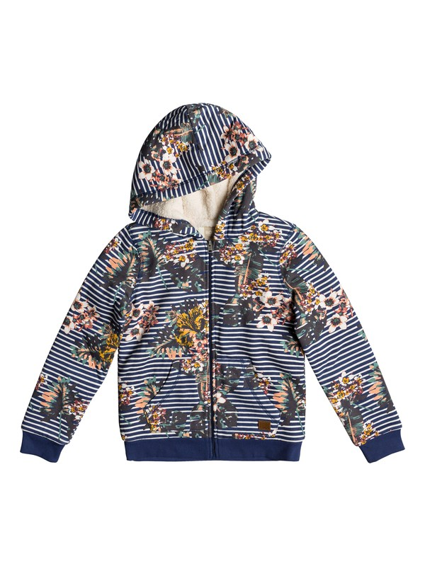 0 Earth Groove - Zip-Up Hoodie for Girls 8-16 Blue ERGFT03294 Roxy