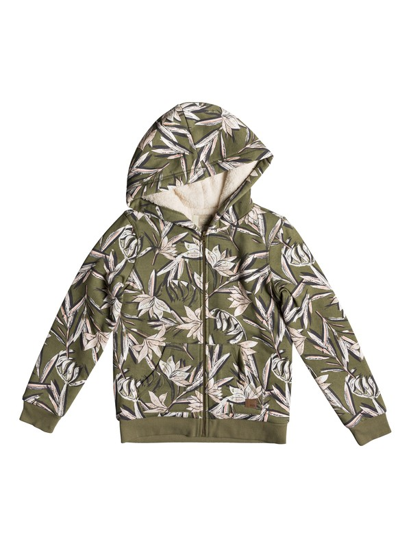 0 Earth Groove - Zip-Up Hoodie for Girls 8-16 Green ERGFT03294 Roxy